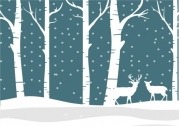 winter_background_white_silhouette_reindeer_trees_snowy_ornament_6829138