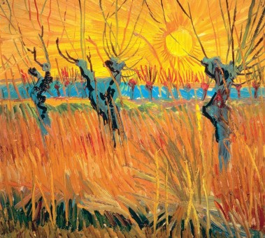 Willows at Sunset Van Gogh