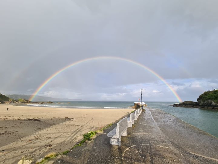 Rainbow over Looe 2