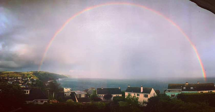 Rainbow over Looe