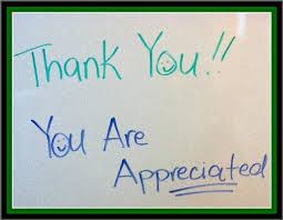 thank you appreciated